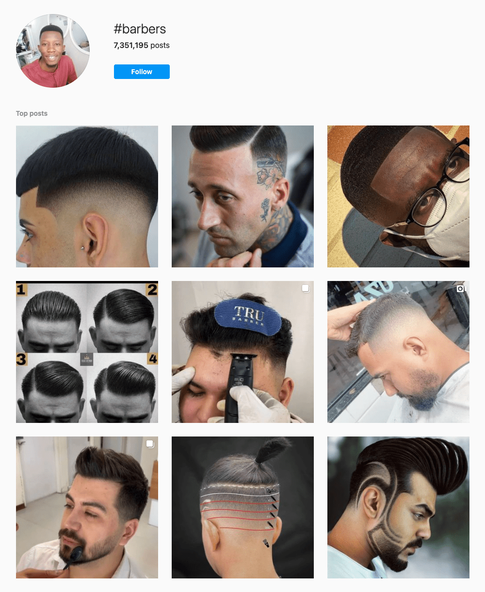 #barbers Hashtags for Instagram