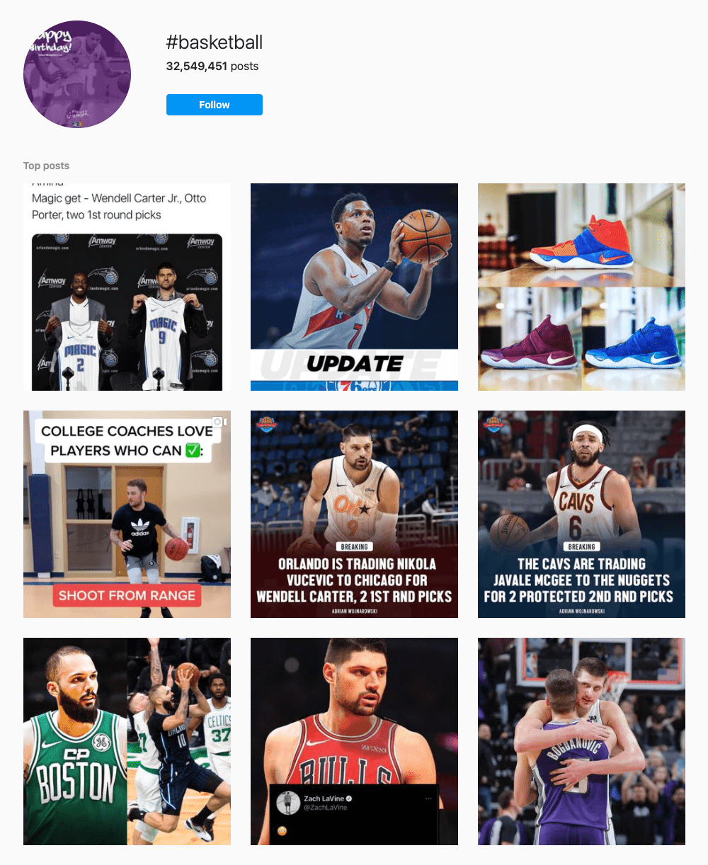#basketball Hashtags for Instagram