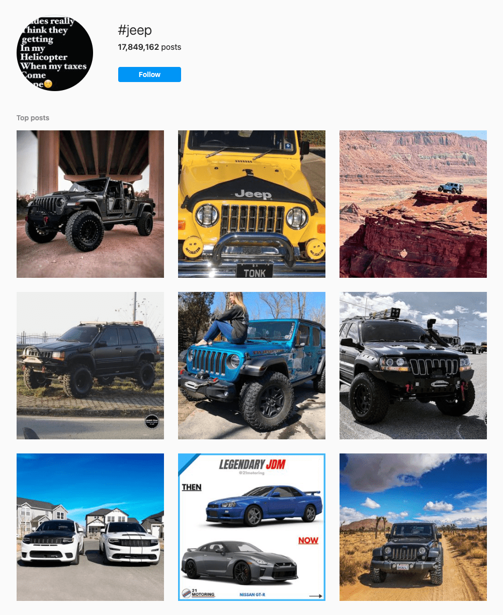#jeep Hashtags for Instagram