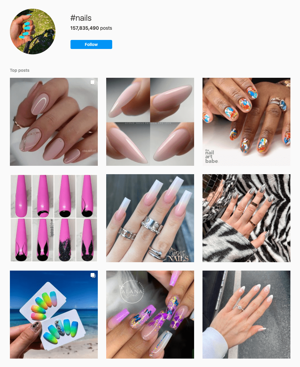 #nails Hashtags for Instagram