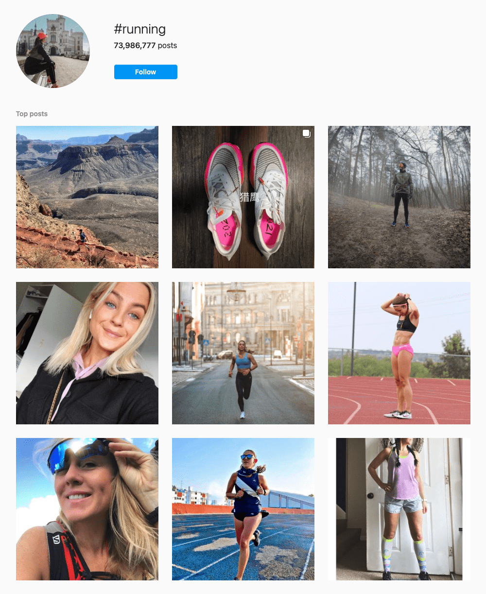 #running Hashtags for Instagram