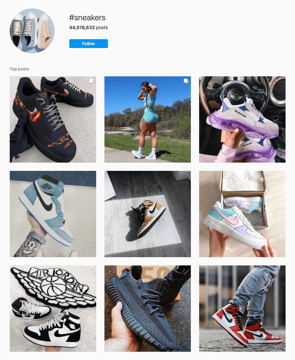 #sneakers Hashtags for Instagram