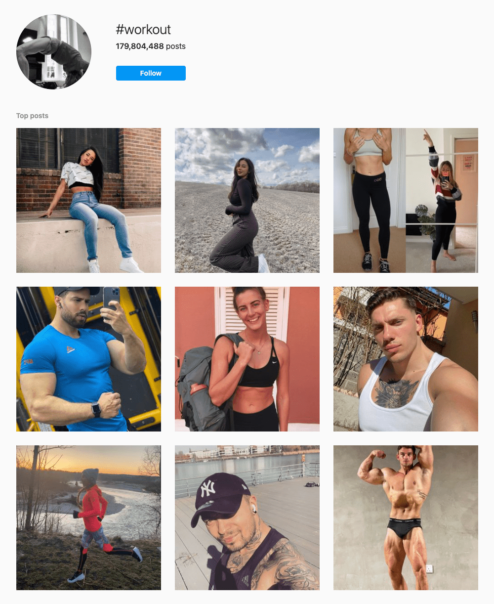 #workout Hashtags for Instagram